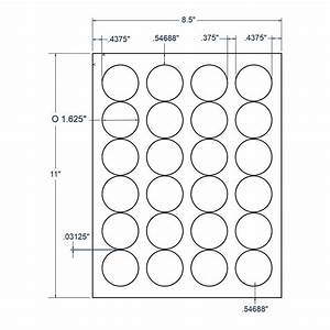 1625quot x 1625quot white circle label 24 labels per sheet for Circle label sheets