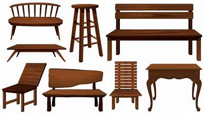 Wood Chairs Different Clipart Vector Designs Chair