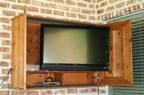 Outdoor Tv Cabinet  Casual Cottage. Sinks And Faucets. Pool Towel Storage. Cape Cod Interior Design. Turquoise Side Table. Entryway Coat Hooks. Delta Dryden. Weisman Electric. Rustic Interior Design