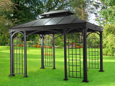 sunjoy wabeek gazebo outdoor living gazebos canopies pergolas gazebos