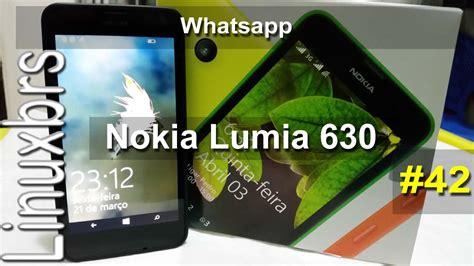 nokia lumia 630 wp 8 1 whatsapp explica 231 227 o pt br