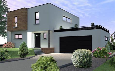 maison  toit plat modulable bartenheim maison neuve