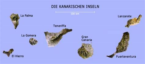 kanarische inseln uebersicht und landkarte kanaren