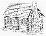 Cabin Coloring Log Drawing Pages Cabins Draw Sheets Adult Colonial Printable Drawings Patterns Woods Sketches Houses Wood Burning Colouring Simple sketch template