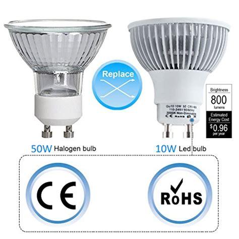 kindeep gu10 led bulb 100w equivalent 10w 800lm mr16