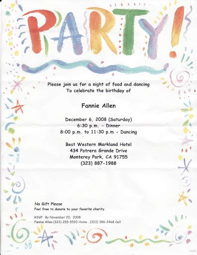 formal decline  invitation letter party invitations ideas