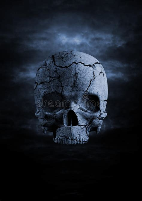 Dark Skull Stock Illustration Crack