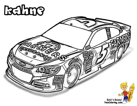 nascar coloring pages nascar cars coloring kahne at yescoloring cool car