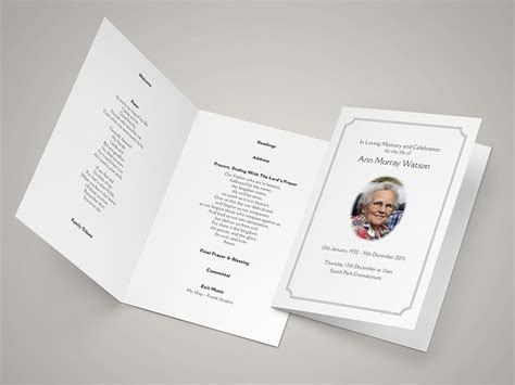 funeral order  service templates funeral hymn sheets
