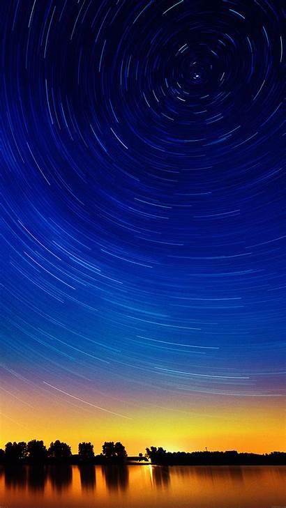 Smartphone Star Sunset Stars Night Lake Sky