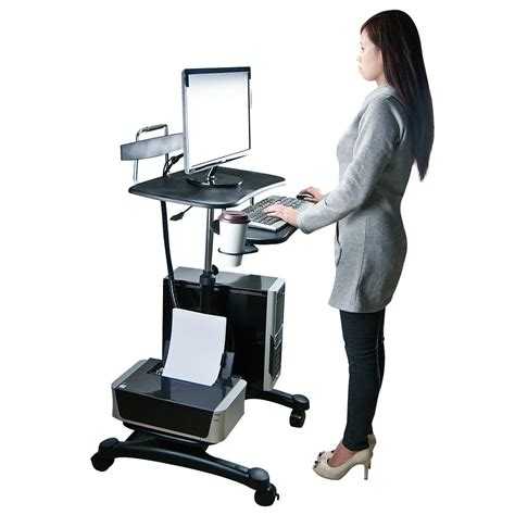 stand sit desk sit and stand computer workstation