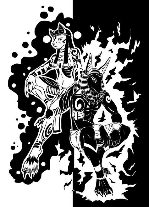 Anubis And Bastet By Tiakaneko On Deviantart