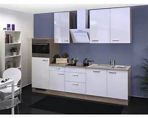 Küchenzeile Mit Aufbau : k chenzeile valero 280 cm wei hochglanz inkl einbauger te bei hornbach kaufen ~ Eleganceandgraceweddings.com Haus und Dekorationen