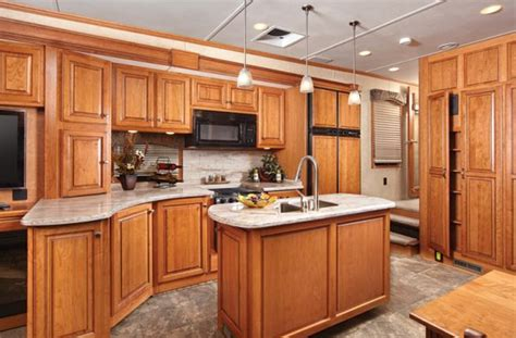 rv kitchen island luxury living on wheels 6 stunning rvs that will make you 2077