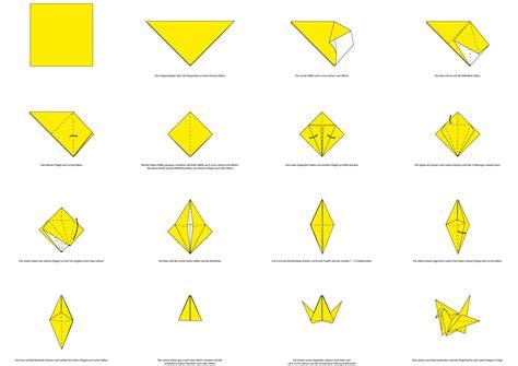 origami kranich anleitung origami falten kranich my