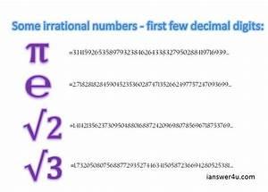 Irrational Numbers in Mathematics ~ I Answer 4 U