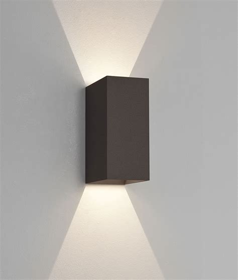 led up exterior ip65 wall light with crisp white