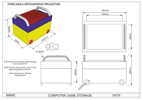 angle orthographic projection computer games