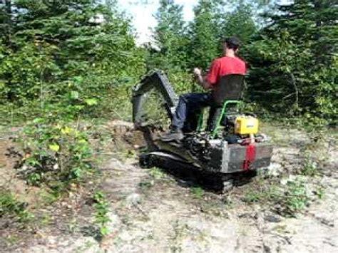 daniels homemade excavator  test youtube