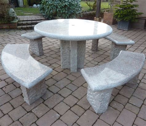 richmond granite table and 4 bench set gardensite co uk