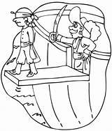 Pirate Coloring Pirates Ausmalbilder Zum Gratis Coloriage Printable Clipart Piratenbilder Plank Malvorlagen Ausdrucken Walking Colorier Hook Pirati Captain Colora Stampa sketch template