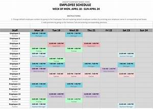 employee schedule template in excel and word format With multiple employee schedule template