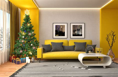 elegant living room  christmas tree hd picture