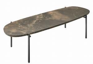 Table Basse Niobe Marbre 140 X 40 Cm Marbre Brun