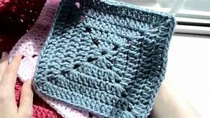 Au Fil Du Tissu : tuto pour un carr au crochet granny avec du tissu du fil sew knit or crochet crochet ~ Melissatoandfro.com Idées de Décoration