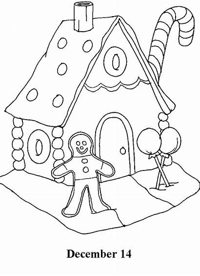 Countdown Christmas Coloring Pages December Calendar Days
