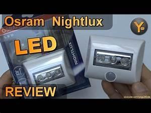 Osram Led Bewegungsmelder : osram nightlux led lampe mit bewegungsmelder und aaa batterien akkus youtube ~ Orissabook.com Haus und Dekorationen