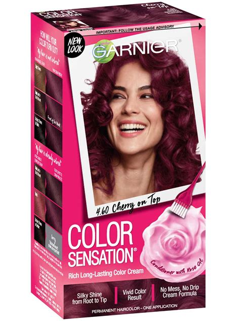 color sensation  dark intense auburn hair color