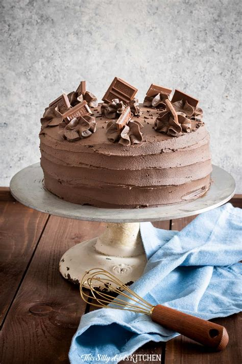 chocolate layer cake double layer cake  whipped