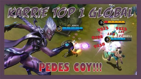 wajib nonton karrie top  global jenos gameplay build