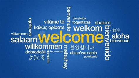 welcome in different languages   Welcome in different ...