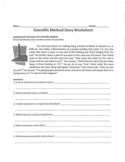 scientific method story worksheet answer key scientific method story worksheet