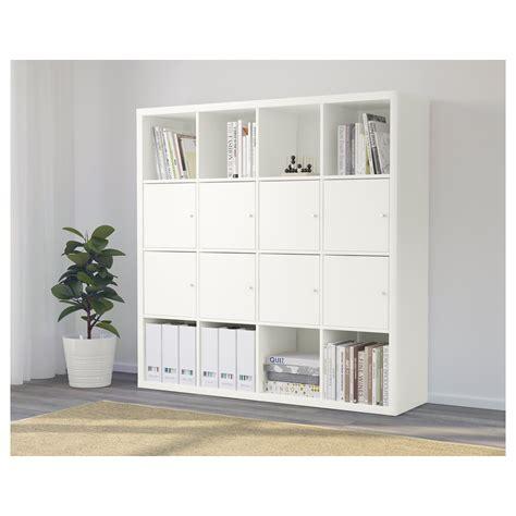Kallax Shelving Unit With 8 Inserts White 147x147 Cm Ikea