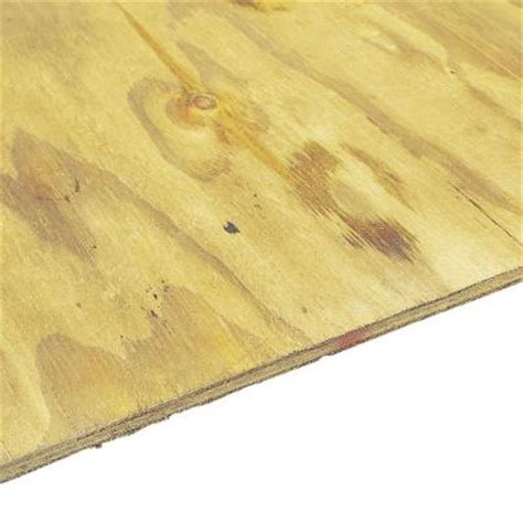 home depot flooring plywood pressure treated plywood rated sheathing common 23 32 in x 4 ft x 8 ft actual 703 in x
