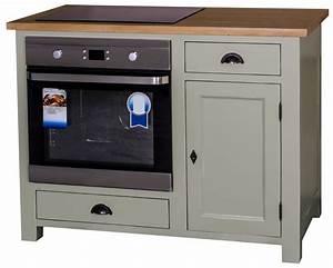Meuble Plaque Cuisson : meuble four et plaque de cuisson en pin massif ~ Teatrodelosmanantiales.com Idées de Décoration