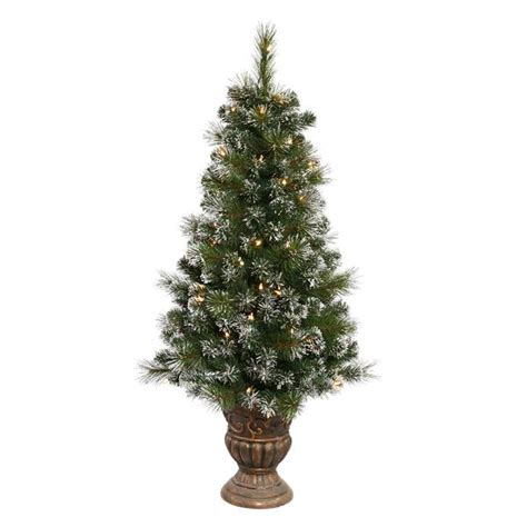 pre lit potted christmas trees vickerman 22462 traditional tree