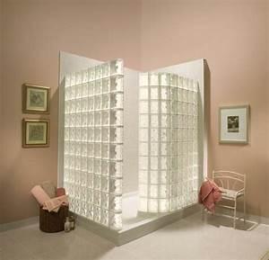 Douche Mur Verre : d licieux salle de bain avec mur en pierre 14 briques ~ Zukunftsfamilie.com Idées de Décoration