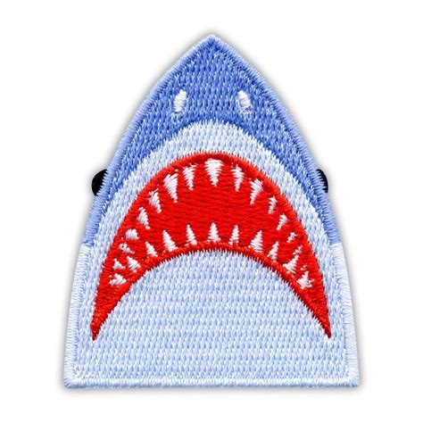 shark jaws embroidered patchbadge
