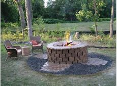 Backyard Fire Pit Ideas with Simple Design