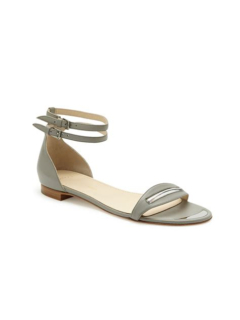 maiyet  tone double ankle strap flat sandal  gray