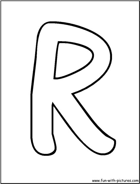 r in letters letters r coloring page alphabet 24185