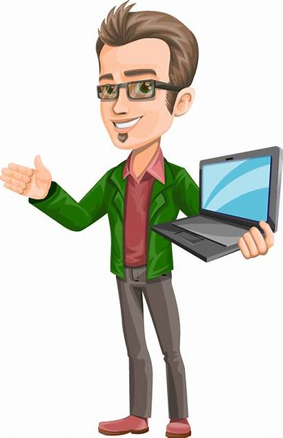 Guy Character Vector Smart Laptop Characters Pdf