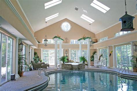 homes  indoor pools house plans built  pool
