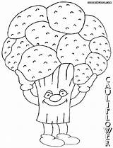 Cauliflower Coloring Pages Colorings sketch template
