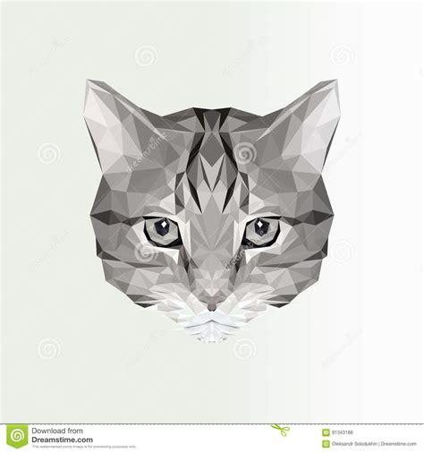 Animal Illustration Wallpaper - vector illustration of low poly cat icon geometric