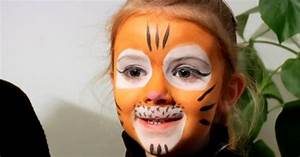 Maquillage Simple Enfant : tutoriel maquillage maquiller son enfant en tigre ~ Farleysfitness.com Idées de Décoration